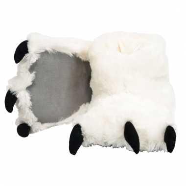 Dierenpoot pantoffels ijsbeer voor dames