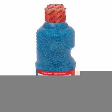 Dikke glitter blauwe verf 250 ml