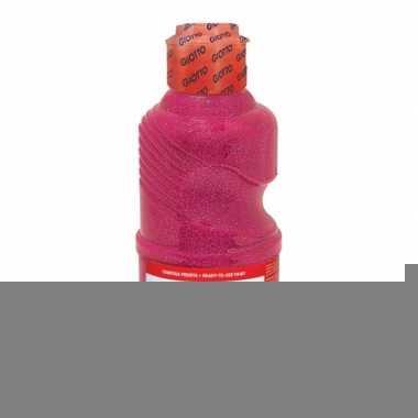 Dikke glitter roze verf 250 ml
