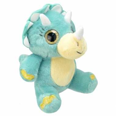 Dino knuffel blauw 19 cm
