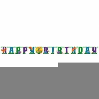 Dino thema banner happy birthday