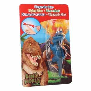 Dino world mini dino katapult triceratops blauw