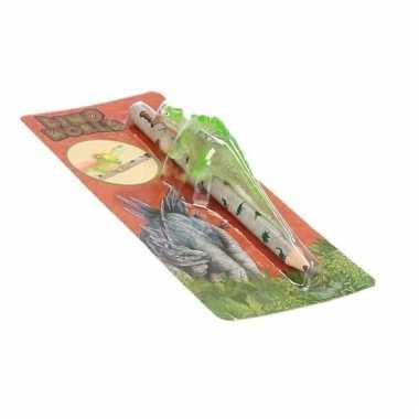 Dino world potlood met groene dino en lichteffecten