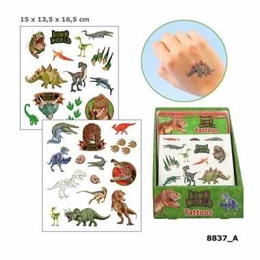 Dinosaurus plak tattoos voor jongens dino world