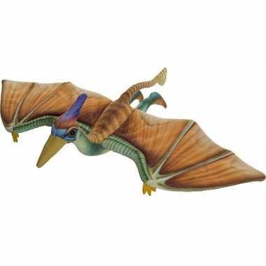 Dinosaurus speelgoed artikelen pterosaurus knuffelbeest gekleurd 40 c