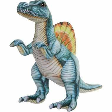 Dinosaurus speelgoed artikelen spinosaurus knuffelbeest gekleurd 40 c