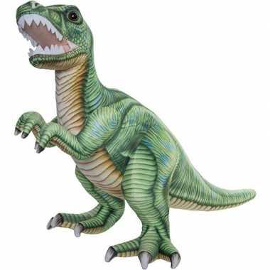 Dinosaurus speelgoed artikelen t-rex knuffelbeest gekleurd 50 cm