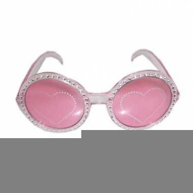 Disco bril met glitters