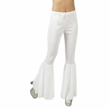 Disco broek wit voor dames