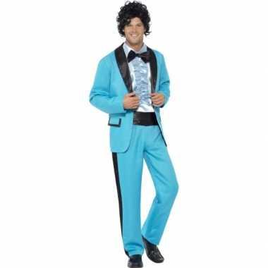 Disco carnavalskleding blauw heren