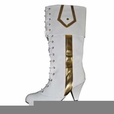 Disco dames laarzen wit