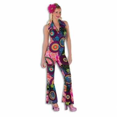 Disco jumpsuit fel gekleurd