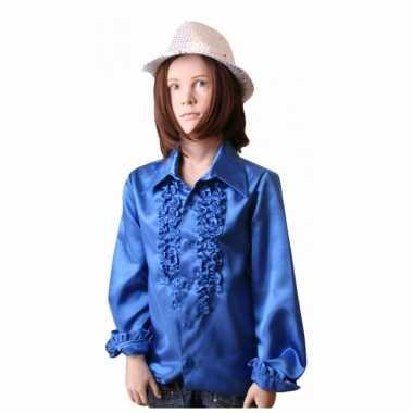 Disco shirt kobaltblauw voor meisjes