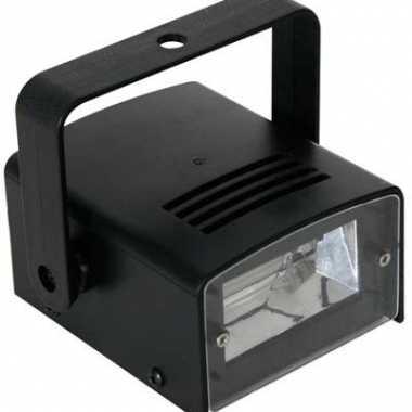 Disco stroboscoop lamp zwart