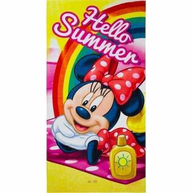 Disney minnie mouse summer badlaken/strandlaken 70 x 140 cm
