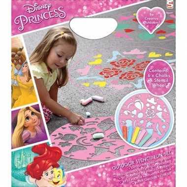 Disney prinses sjabloon en krijtjes trend