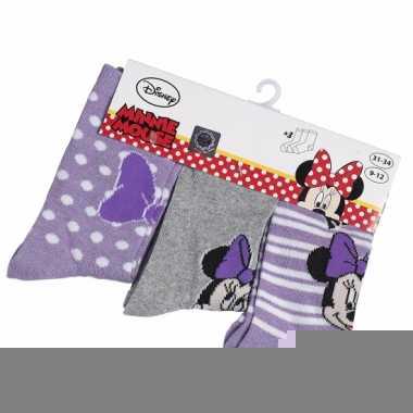 Disney sokken minnie mouse 3 pak