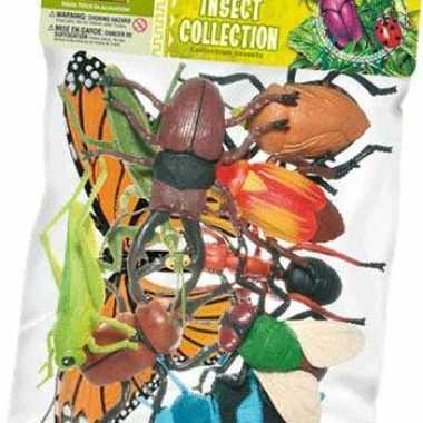 Diverse grote plastic insecten