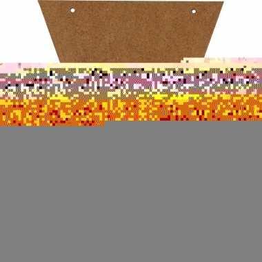 Diy bruine vlaggetjes voor vlaggenlijn/slinger