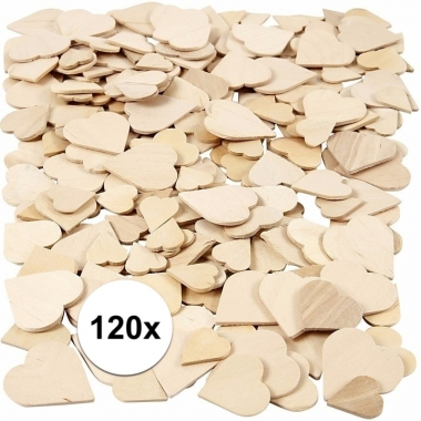 Do-it-yourself berkehout hartjes 120 stuks