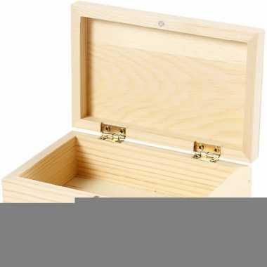 Do-it-yourself houten kistje 14 x 9 x 5 cm