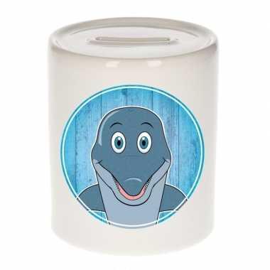 Dolfijn kado spaarpot voor kinderen 9 cm