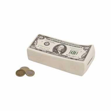 Dollar briefjes spaarpotten 16 cm