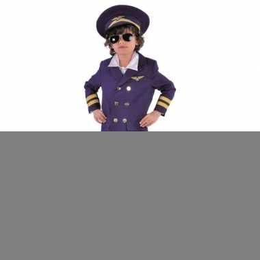 Donkerblauw piloten outfit voor kids