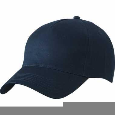 Donkerblauw team baseball petjes