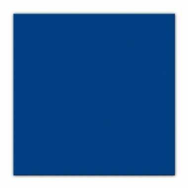 Donkerblauwe kleur papieren servetten 33 x 33 cm