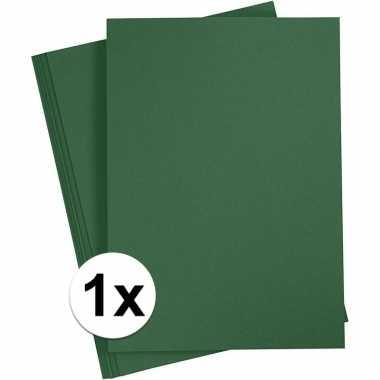 Donkergroen knutselpapier a4 formaat