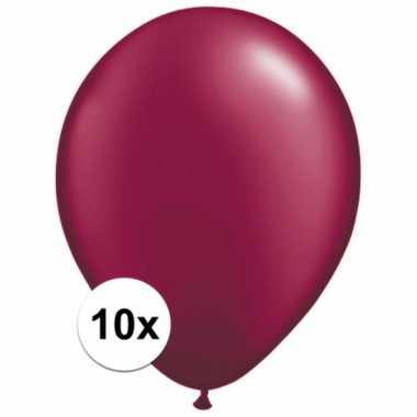 Donkerrode decoratie ballonnen 10 stuks