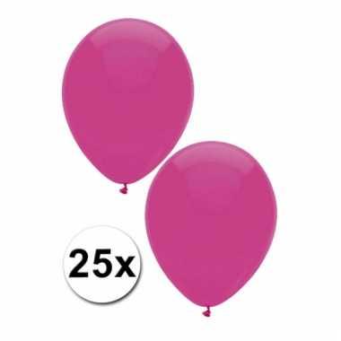 Donkerroze decoratie ballonnen 25 stuks