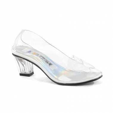 Doorzichtige schoenen met vlinder