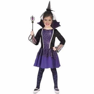 Dracula verkleedkleding jurkje paars voor meisjes