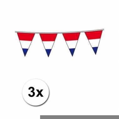 Drie hollandse vlaggenlijnen 10 meter per stuk