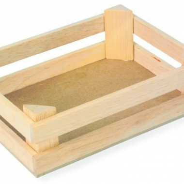 Drie houten kistjes 11 x 8 x 6 cm