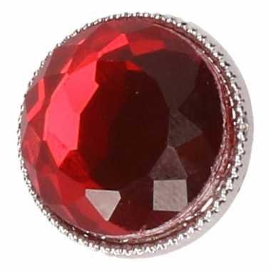 Drukknoop bordeaux rood 1,8 cm