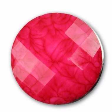 Drukknoop roze voor chunk sieraad 1,8 cm