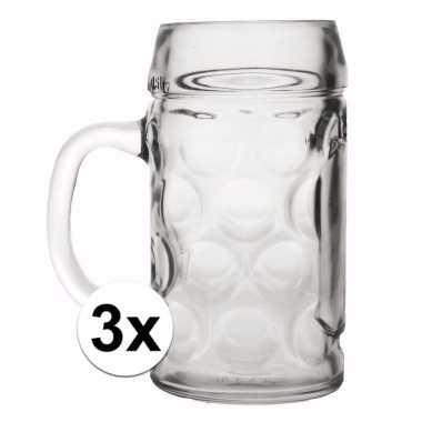 Duitse bierpullen 0,4 liter 3 stuks