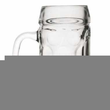 Duitse bierpullen 1 liter 6 stuks