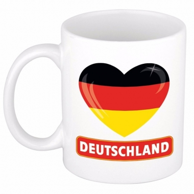 Duitse vlag hartje theebeker 300 ml