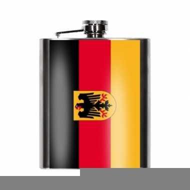 Duitse vlag heupfles 200 ml