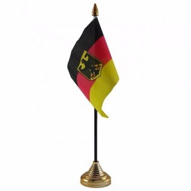 Duitsland met adelaar tafelvlaggetje 10 x 15 cm met standaard