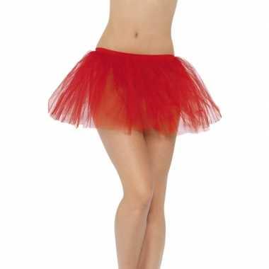 Duivel verkleedaccessoire tutu rok rood voor dames