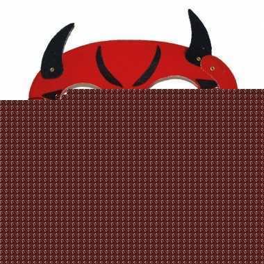 Duivels masker met hoorns en staart