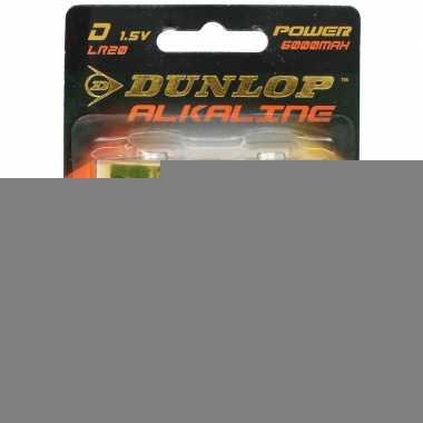 Dunlop alkaline batterijen lr20 d 2 stuks