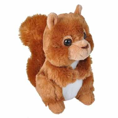 Eekhoorns speelgoed artikelen eekhoorn knuffelbeest rood 18 cm