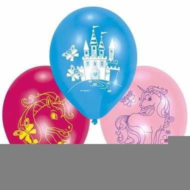 Eenhoorn ballonnen 6 stuks