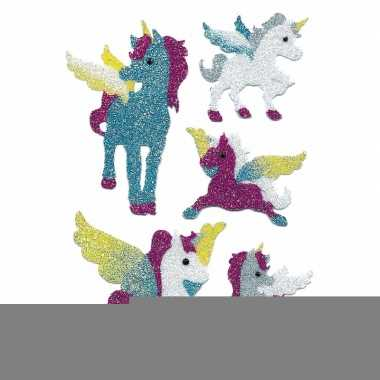 Eenhoorn glitter stickers 2 vellen
